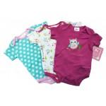 Baby Girls' 3-Pack Bodysuits