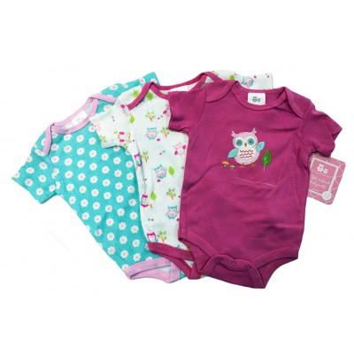Baby Girl 3-Pack Onesies
