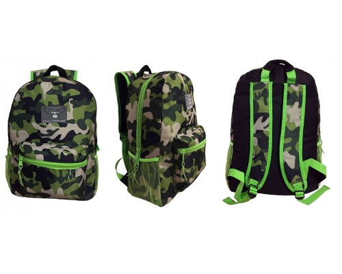 "18"" Camo Wholesale Backpacks $5.25 Each."