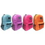 "17 "" Wholesale School Backpacks In 4 Assorted Colors - Bulk Case Of 24 Bookbags"