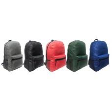 "17 "" Wholesale School Backpacks In 5 Colors - Bulk Case Of 24 Bookbags"