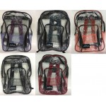 "17"" Wholesale backpacks Clear $5.50 Each"