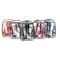 "17"" Wholesale Clear Backpacks - 5 Trim Colors"