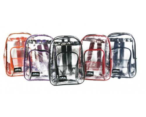 "17"" PVC Clear Backpacks"