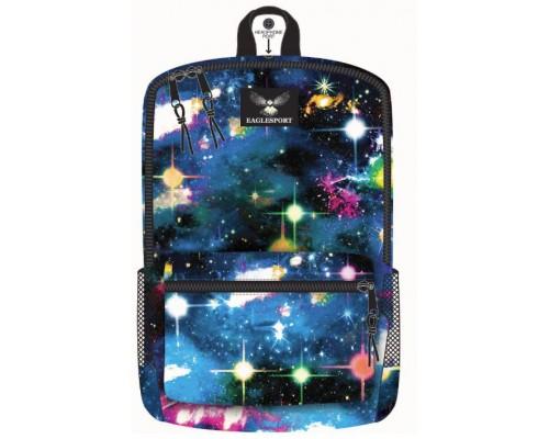 "18"" Eaglesport School Backpacks Galaxy Print"