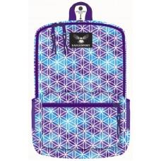 18 Inch Wholesale Printed Backpacks - Purple Geo