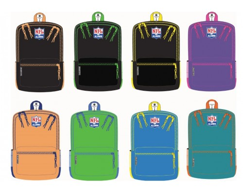 "18"" NFLA 2-Tone Backpacks in 8 Assorted Color Combinations"