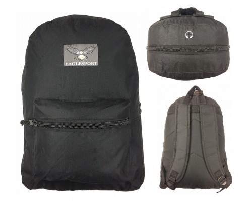 "17"" All Black Backpacks $4.25 Each"