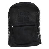 "17"" Wholesale Mesh Backpacks - Black"