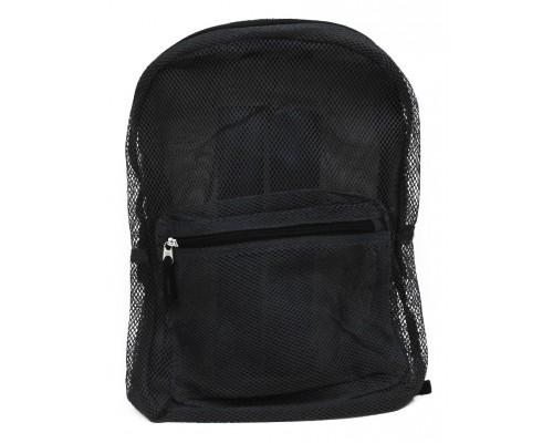 "17"" Mesh Black Backpacks $5.25 Each"