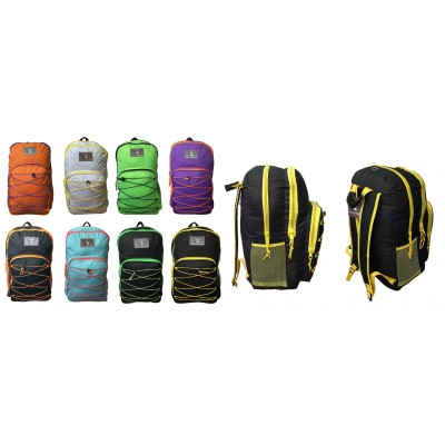 "19"" Wholesale Bungee Backpacks - 8 Colors"