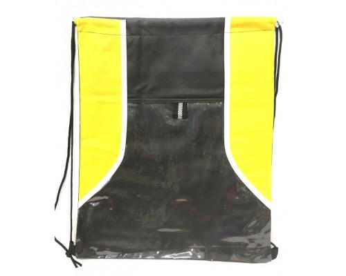 Yellow/Black Drawstring Backpack