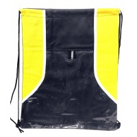 Yellow/Black Drawstring Bags
