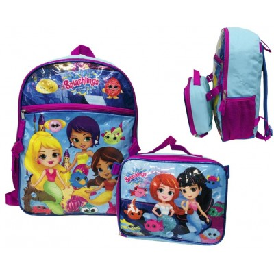 "16"" Splashings Backpack W/ Lunch Box"