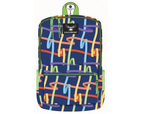 """16"""" Ribbons Printed School Backpacks"""