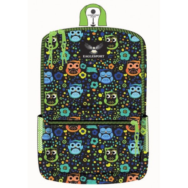 "16"" Owl Printed Wholesale Backpacks"