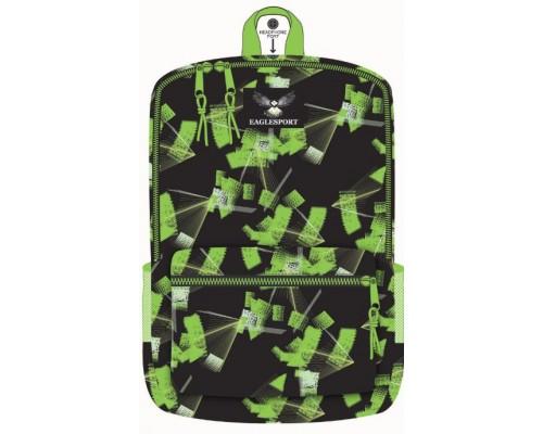 """16"""" Green Laser Printed School Backpacks"""