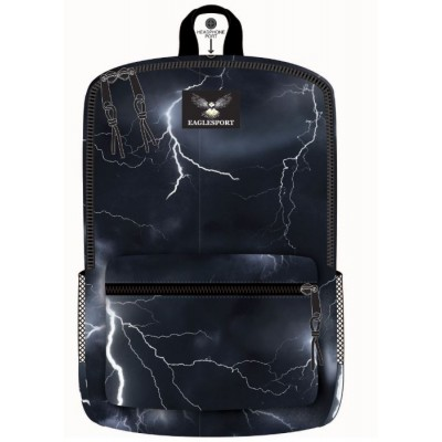 "16"" Lightning Printed Wholesale Backpacks"