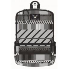 18 Inch Wholesale Printed Backpacks - Grey Stripes