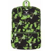 18 Inch Wholesale Printed Backpacks - Green Laser