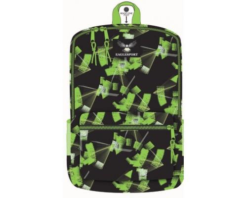 "18"" Eaglesport School Backpacks Green Laser Print"