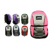"17"" Corded Wholesale Backpacks In 6 Colors - Bulk Case of 24"