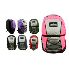 """17"""" Wholesale Corded Backpacks In 6 Colors - Bulk Case of 24"""