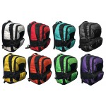 """18"""" Premium Padded Wholesale Backpacks w/ Organizer In 8 Assorted Colors"""
