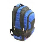 """18"""" Wholesale backpacks Blu/Blk $7.25 Each."""