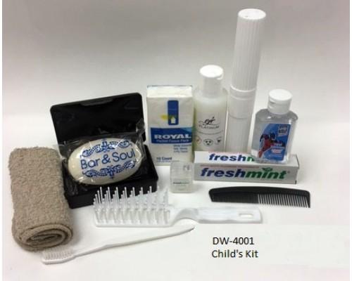 Children's Hygiene Kit $5.25 Each.