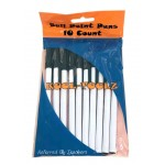 Wholesale black pens 10 pack $0.85 Each.