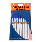 Wholesale blue pens 10 pack $0.85 Each.