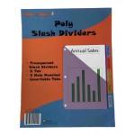 5 Tab Poly Binder Dividers w/ Pocket