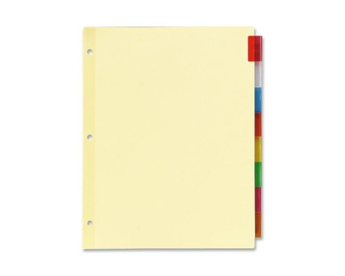 8 Tab Poly Index School Divider $0.86 Each.