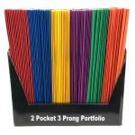 Wholesale school folder w / Prongs $0.24 Each