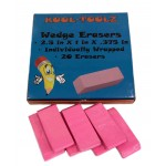 Wholesale school wedge erasers $0.16 Each