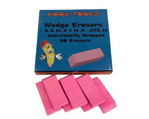 School Wedge Erasers $0.18 Each