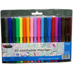 Fine Tip Washable Markers