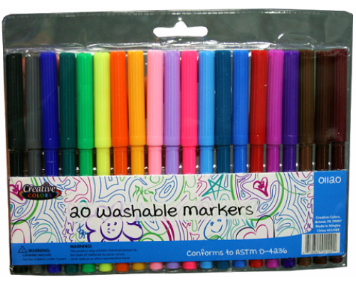 Fine tip Washable Markers $1.09 Each