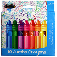 Jumbo Crayons 10ct.
