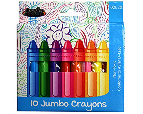 Jumbo Crayons 10 ct.