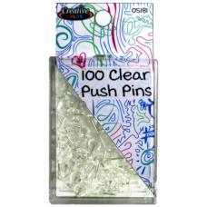 Clear Push Pins 100 ct.