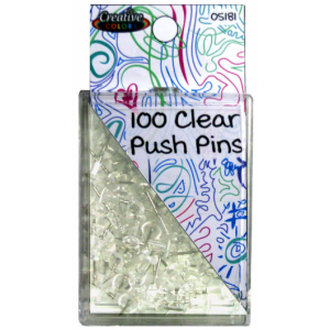 Clear Push Pins 100 ct.