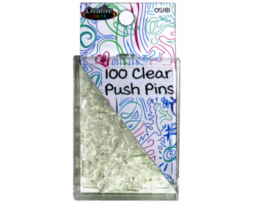 Clear Push Pins $0.78 Each.