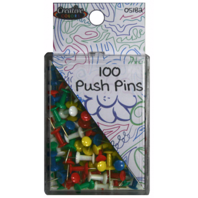 Color Push Pins 100 ct.