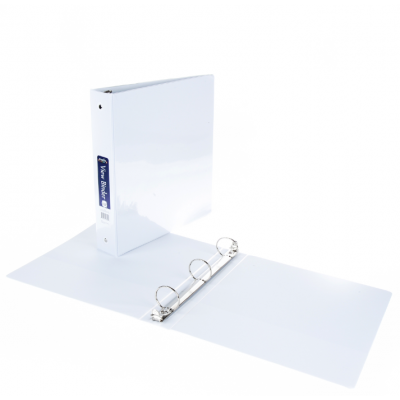 """1.5"""" 3-Ring Binders Creative Colors White"""
