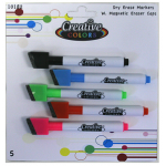 Creative Colors Dry Erase Fine Tip Markers 5ct.