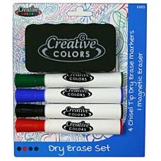 Creative Colors Dry Erase Chisel Tip Marker Set