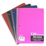 Wholesale school notebooks 3-sub. $1.39 Each