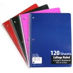 C/R Spiral School Notebooks $1.59 Each.